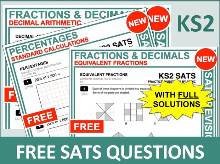 SATs Bundle (Fractions, Decimals and Percentages)