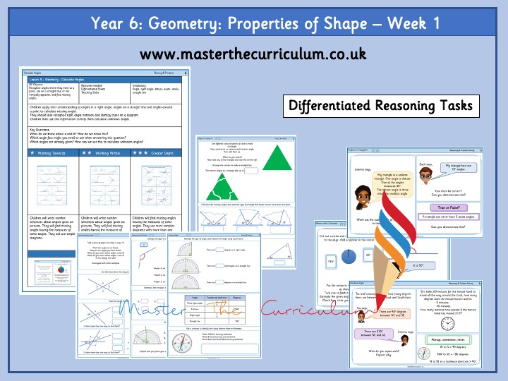 Year 6- Properties of Shape – Week 1-  Differentiated Worksheets  White Rose