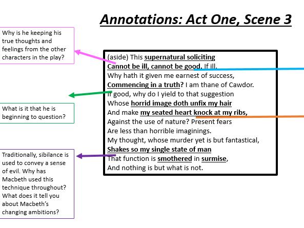 Macbeth's Ambition: Act One Scene 3