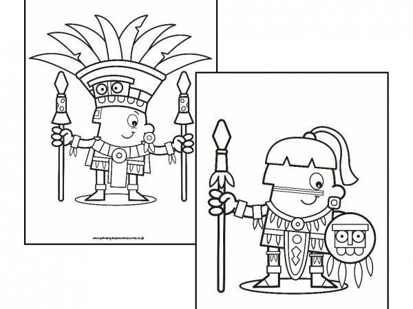 Maya Colouring Pages