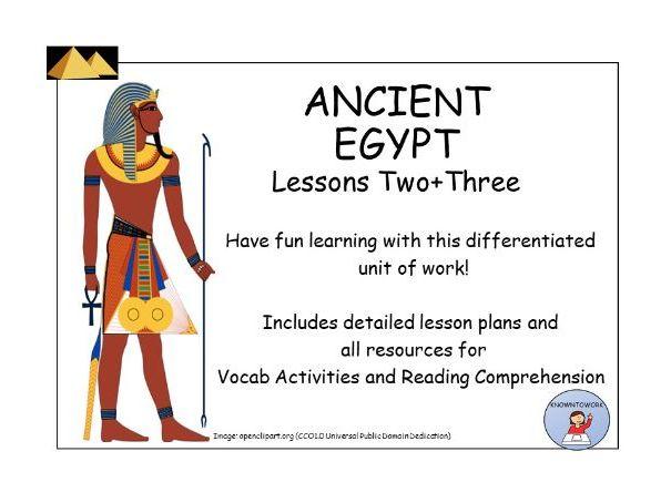 AncientEgypt:VocabandReadingComprehensionLesson