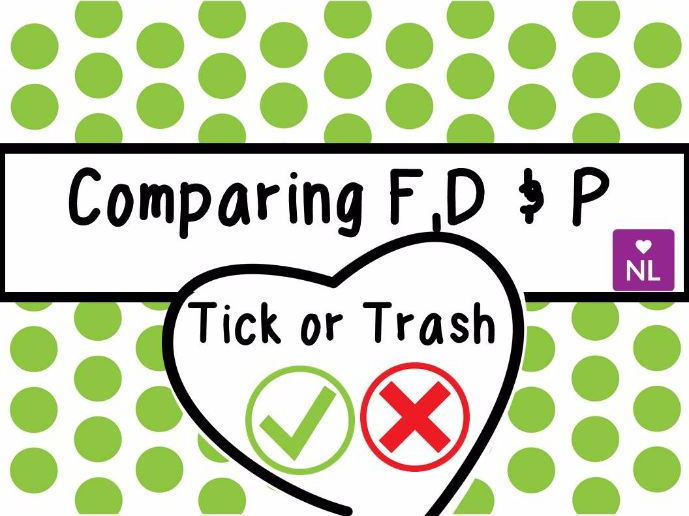 Comparing Fractions, Decimals and Percents Tick or Trash