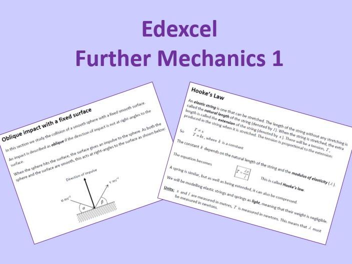Edexcel Further Mechanics 1 New Spec
