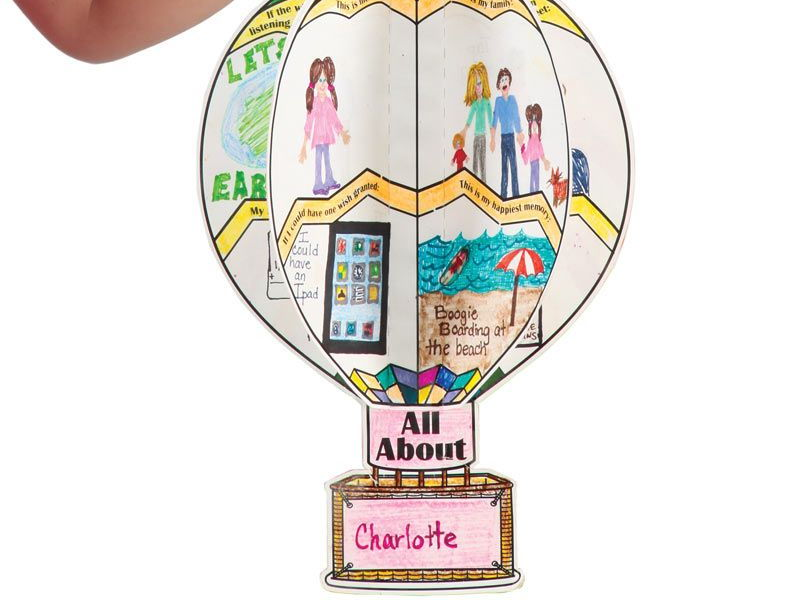 All about me 3D Up house balloon Transition day activity