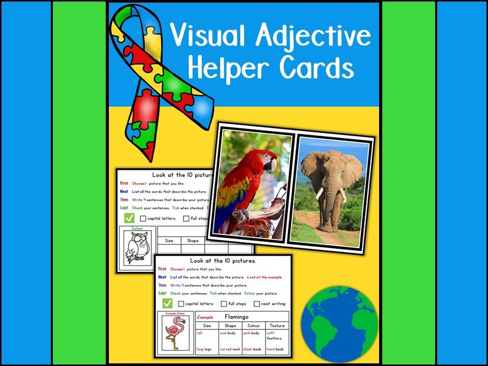 Visual Adjective Helper Cards (Autism)