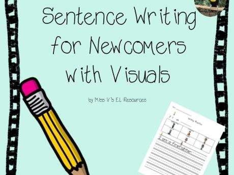 Sentence writing for newcomers with visuals - differentiated