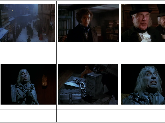 AQA New Lit Spec - A Christmas Carol Storyboards Stave 1-5