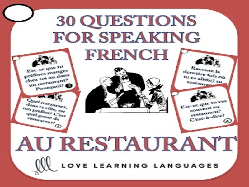 30 French Speaking Questions - Au Restaurant