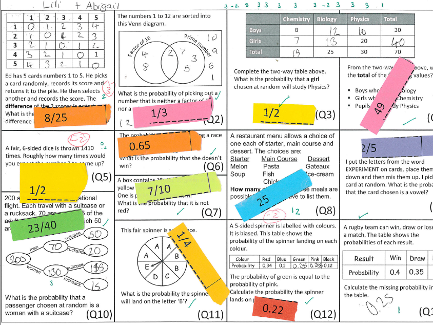Go and Find - Probability Revision Activity