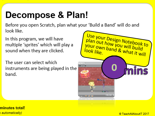 KS3 Computing Scratch Project - My Band (2 hours)- Teacher Presentation & Tools