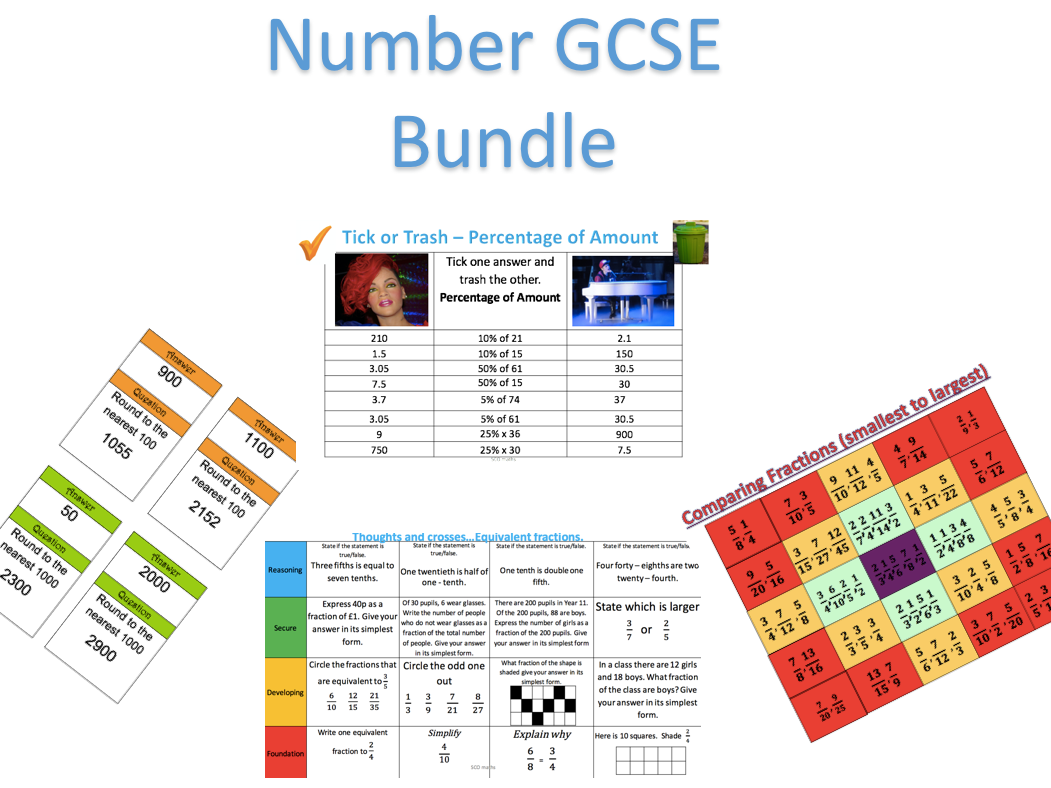 Number tasks  GCSE Bundle