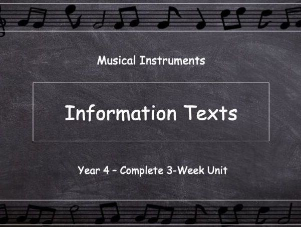 Year 4: Information Texts - Musical Instruments (Complete 3-Week Unit)