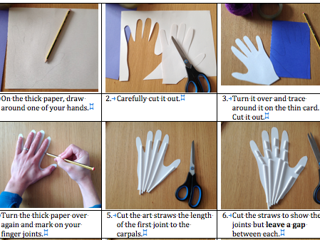 How to make a moveable hand - muscles, tendons