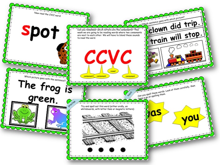Phonics Powerpoint, Phase 4, Week 2 (CCVC words)