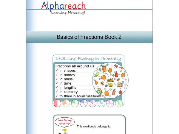 Pages from the Basics of Fractions Book 2