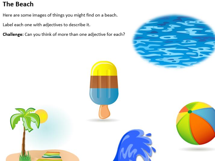 Description of a beach essay