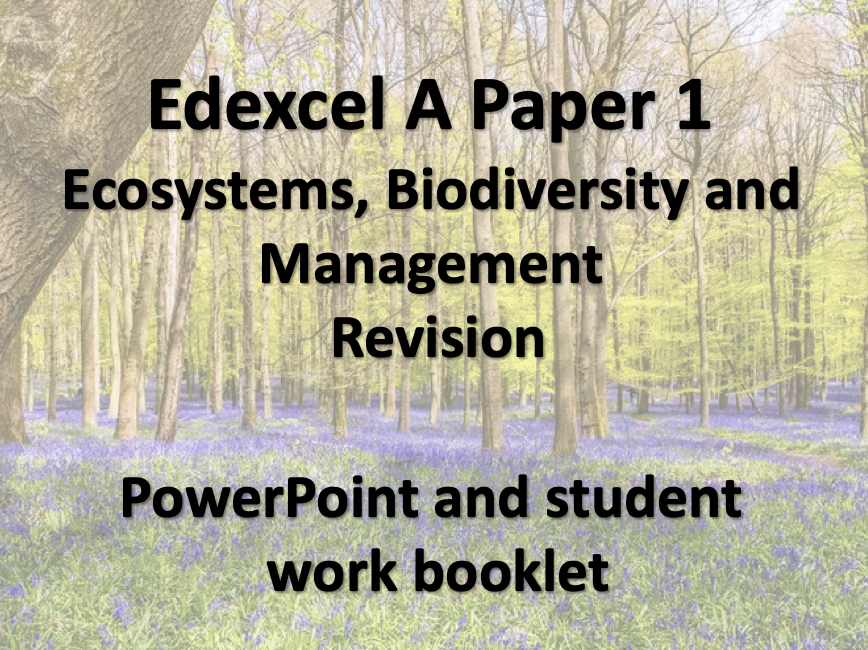 Edexcel A Ecosystems Revision