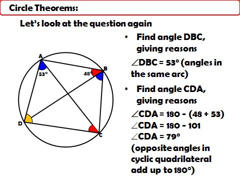 Circle Theorems - Solving Multi Step Problems