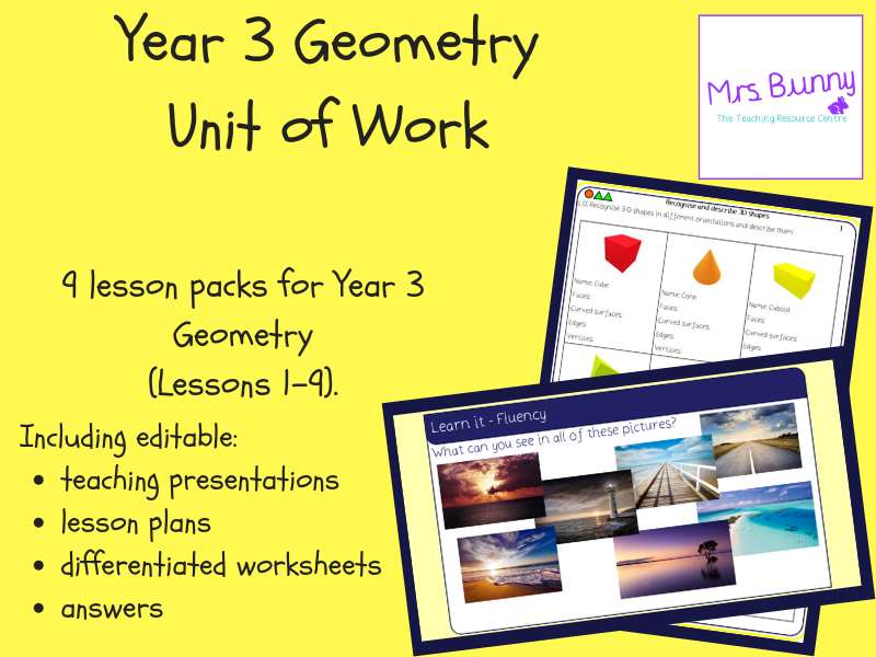 Year 3 Measurement: Geometry Unit Pack