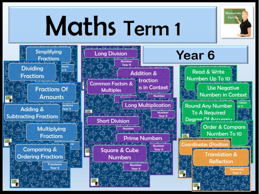 Maths Year 6 Term 1 BUNDLE