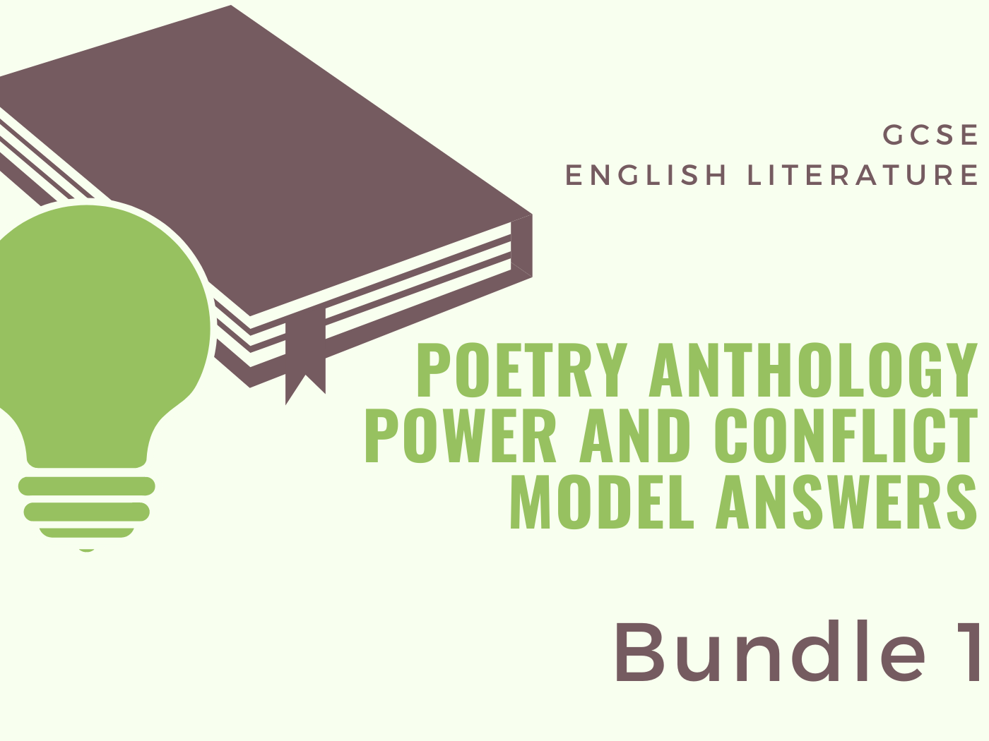 Power and Conflict - Poetry Anthology: Model Answers 1