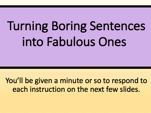 Improving Sentence Construction Activity