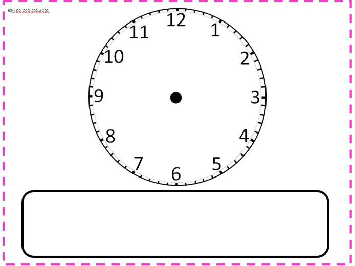 Clock play dough mat
