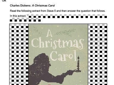 A Christmas Carol  Mock Exam Questions - AQA - Stave 1