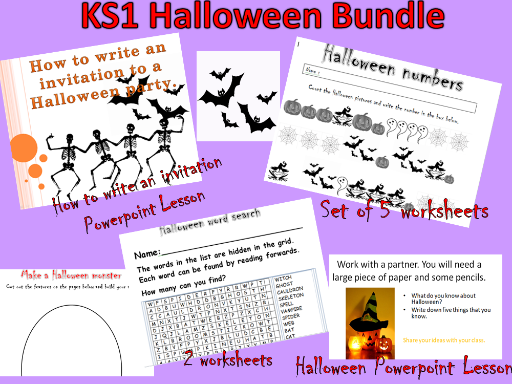 Ks1 halloween bundle by newromantic teaching resources tes stopboris
