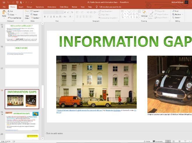 25. Public Goods and Info Gaps (Slides, Activities and Notes) - Edexcel A-Level Economics - Theme 1