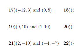 Gradient of a line given the coordinates of two points worksheet (with solutions)