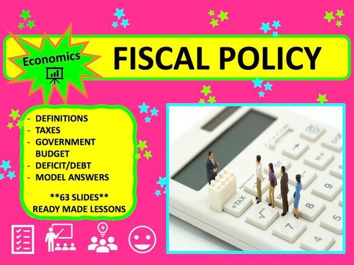 A Level Economics Fiscal Policy