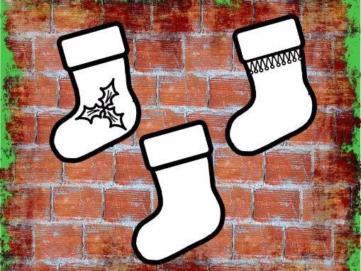 Christmas Stocking Templates x15