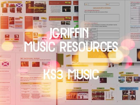 KS3 Music Appreciation (High Quality Home Learning) - 3 Lessons (Elements Part 1, Orchestra & Folk)