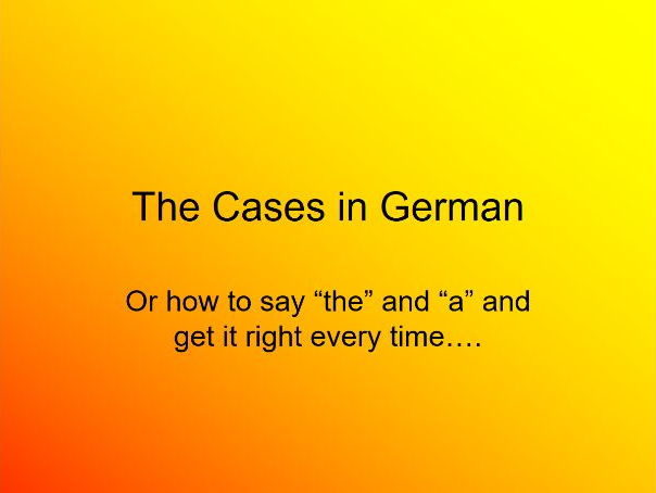German case tables