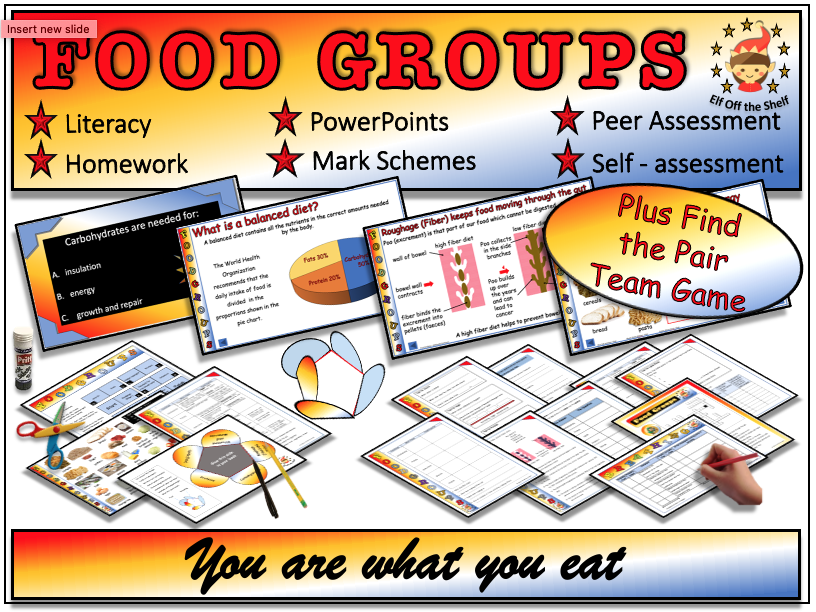 Food, Nutrition and Food Tests Explained - Fully Resourced Lesson  PlusFind the Pair Game - KS3