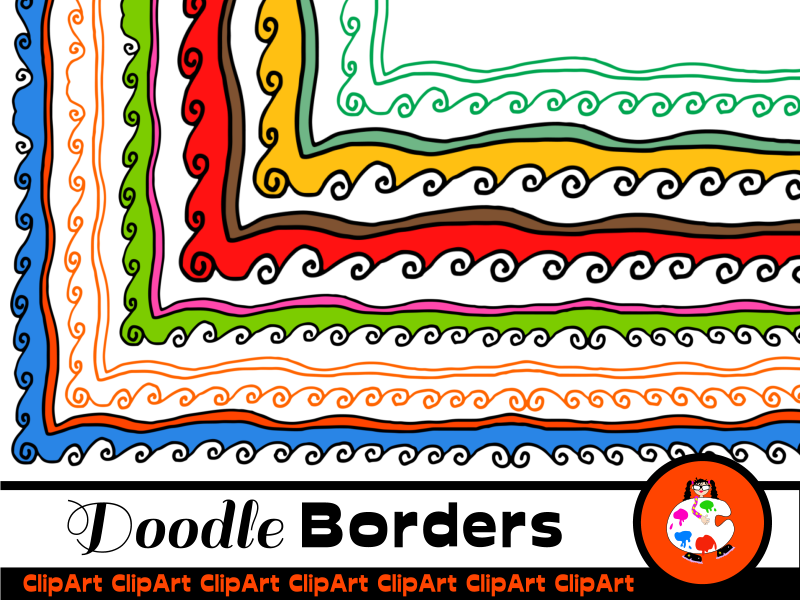 Swirly Doodle Page Borders