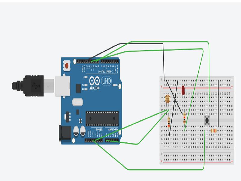 5. Using Tinkercar: Creating a Security Light using Arduino - Basic coding electronics