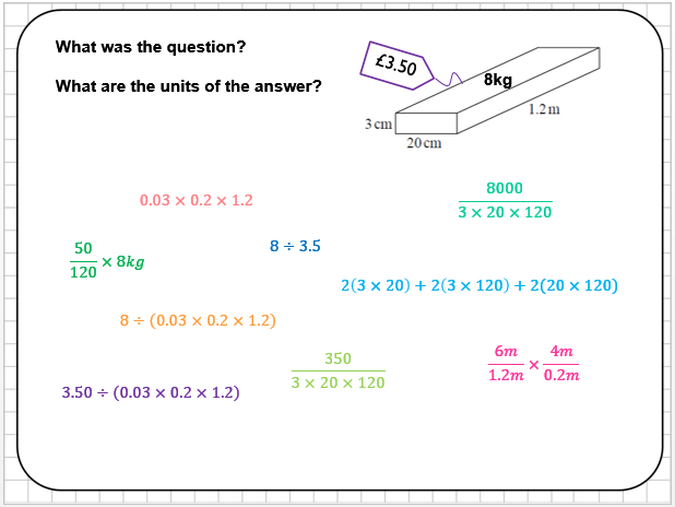 Density and Volume Reasoning Tasks