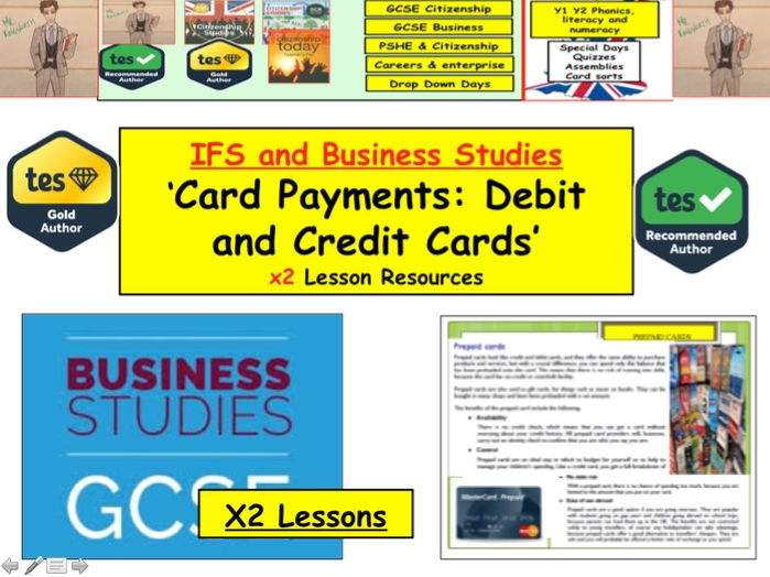 Card Payments: Debit and Credit cards and others - Business IFS Studies