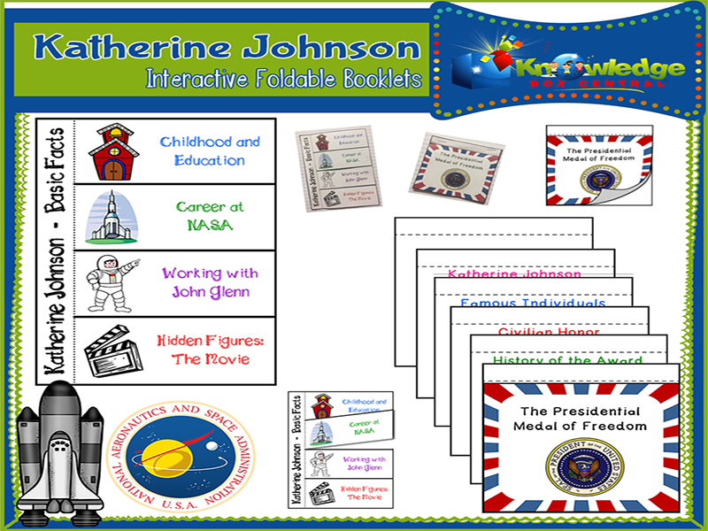 Katherine Johnson Interactive Foldable Booklets