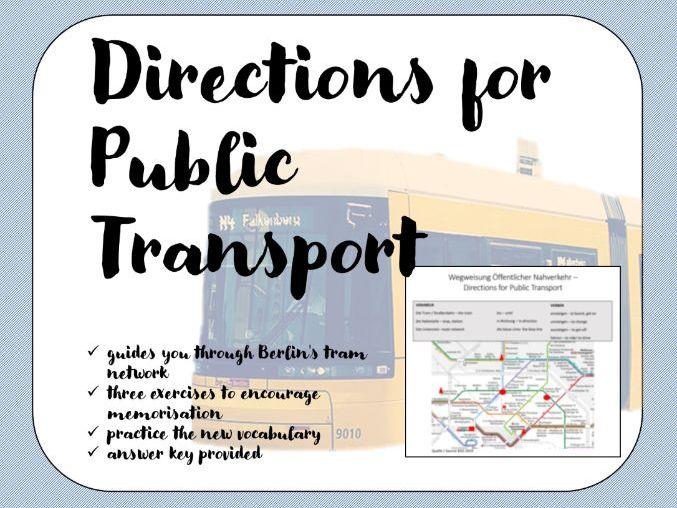 Taking Public Transport German - Wegweisung Öffentlicher Nahverkehr Berlin