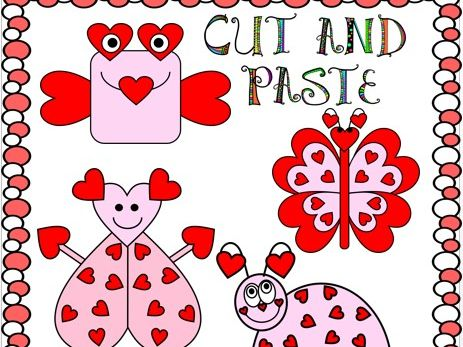 Cut and Paste Valentine's Day Crafts - The Love Bugs