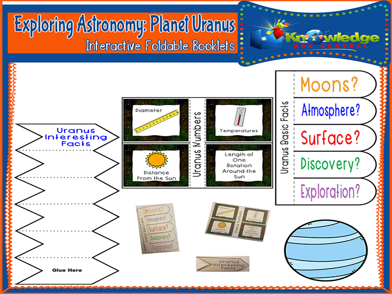 Exploring Astronomy: Planet Uranus Interactive Foldable Booklets