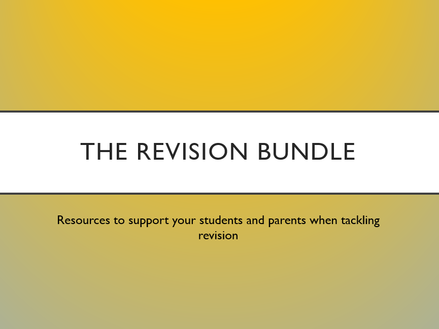The Revision Support Bundle