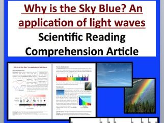 Why is the Sky Blue? Comprehension Reading KS3 and KS4