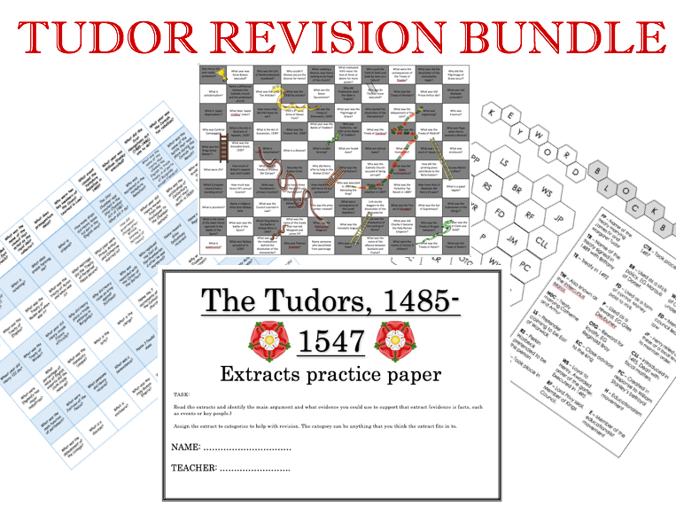 Tudor Revision bundle