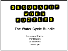 The Water Cycle Word Puzzles