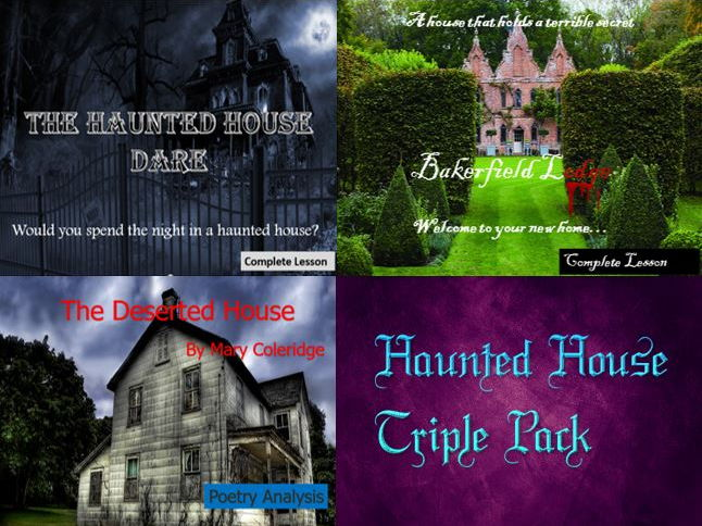 The Haunted House Triple Pack - Descriptive Writing and Poetry