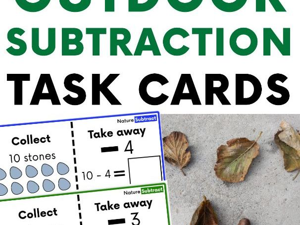 Outdoor Subtraction Task Cards: Reception - Year 1